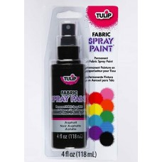 Tulip Fabric Spray Paint Nontoxic Eco-friendly Black Asphalt 118ml