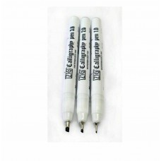 ZIG Japan Calligraphy Marker Pen Black Ink Oblique Tip 1mm 2mm 3mm Nib Set of 3