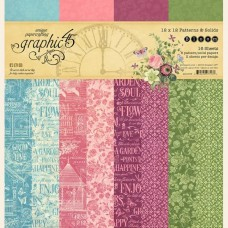Graphic 45 Bloom 12x12 Patters & Solids Pad