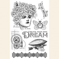 Graphic 45 Imagine Dream - Clear Acrylic Stamp