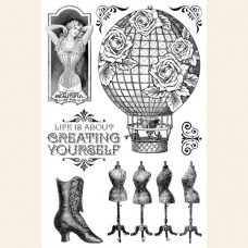 Graphic 45 Imagine Create Yourself - Clear Acrylic Stamps