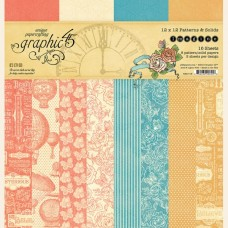 Graphic 45 Imagine 12x12 Patters & Solids Pad