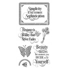Graphic 45 Rubber Cling Stamp Set - Portrait of a Lady 1