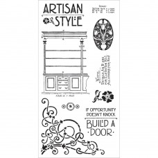 Graphic 45 Rubber Cling Stamp Set - Artisan Style 1