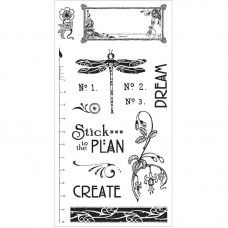 Graphic 45 Rubber Cling Stamp Set - Artisan Style 2