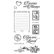 Graphic 45 Rubber Cling Stamp Set - Mon Amour 2
