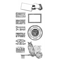Graphic 45 Rubber Cling Stamp Set - Rare Oddities 2