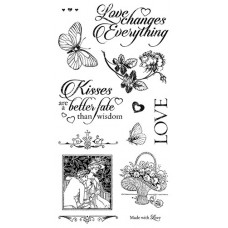 Graphic 45 Rubber Cling Stamp Set - Mon Amour 3