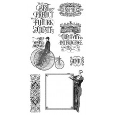 Graphics 45 Rubber Cling Stamp Set - World Fair 1