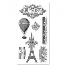 Graphics 45 Rubber Cling Stamp Set - World Fair 2