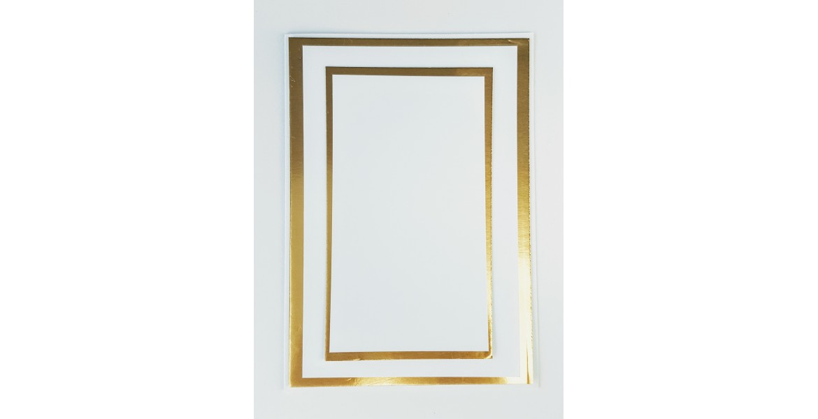Matting Kit - White & Gold