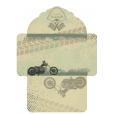 Nini's Things Paper Kit - Motorbikes - Envelope x10