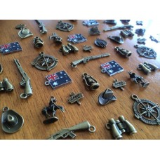 10 Mixed Bronze ANZAC Charms