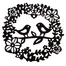 Nini's Things Bird & Flower Wreath Die
