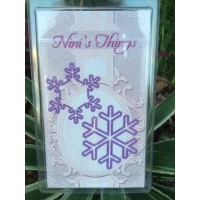 Christmas Snowflake Frozen Die Set - Purple