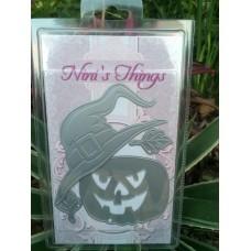 Halloween Spooky Pumpkin Witch Hat Die Set