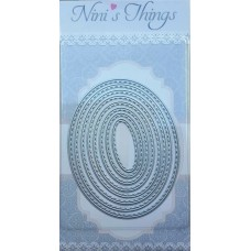 Nini's Things Nesting Stitched Ovals Die Set