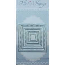 Nini's Things Nesting Stitched Large Square Die Set