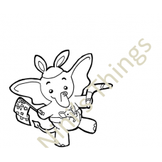 Nini's Things Baby Elephant Downloadable Digi Stamp - Australia Day