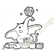Nini's Things Baby Elephant Downloadable Digi Stamp - Baby