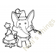 Nini's Things Baby Elephant Downloadable Digi Stamp - Christmas