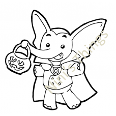 NIni's Things Baby Elephant Downloadable Digi Stamp - Halloween