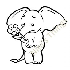 NIni's Things Baby Elephant Downloadable Digi Stamp - Sympathy