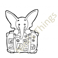 NIni's Things Baby Elephant Downloadable Digi Stamp - Travel