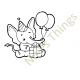 Nini's Things Baby Elephant Downloadable Digi Stamp - Birthday