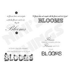 Nini's Things Downloadable Sentiments - Blooms