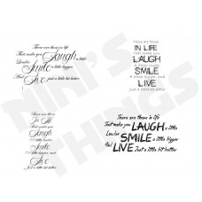 Nini's Things Downloadable Sentiments - Laugh Smile Live