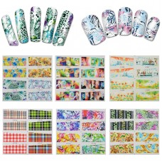 20 Sheets of Flower Design Nail Water Decals