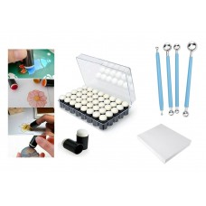 40 pcs Dauber + Case + Flower Shaping Kit + 1 Sheet of Vellum