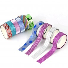 10 Mixed Glitter Tape Rolls