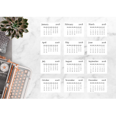 Nini's Things Calendar Cards 2018 - Medium