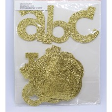Glitter Alphabet - 30pcs - Gold