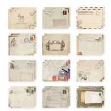 10 Mixed Design Vintage Envelopes