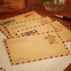 10 Mixed Design AirMail Envelopes