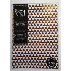 The Paper Mill A4 Specialty Papers Foiled Paper - 10pk Triangles