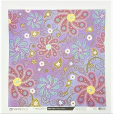 Cloud 9 Design Sparkly Cardstock Purple Flowers