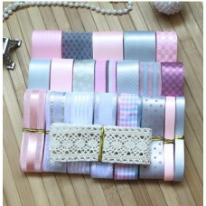 Ribbon Pack - Pink and Silver