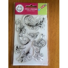 Filigree Swirl Flourish Clear Stamp set