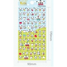 Planner Puffy Stickers - Pandas