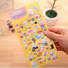 Planner Puffy Stickers - Cats