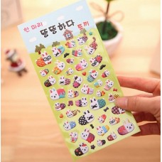 Planner Puffy Stickers - International Bunnies