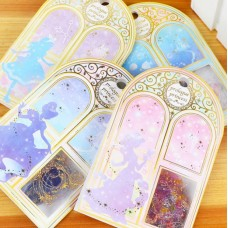 Princess Clear Stickers Mermaid, Alice, Princess