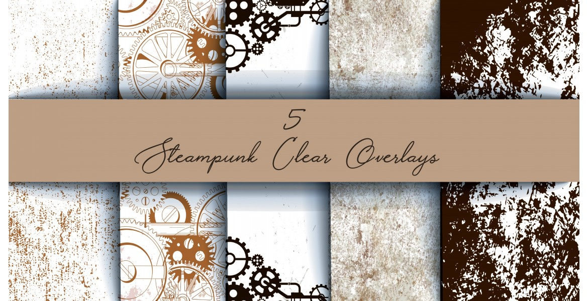 Nini's Things Clear Overlays 5 Sheets - Steampunk