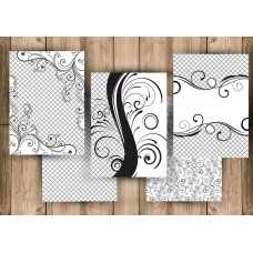 Nini's Things PrintedDesigns on Your Choice of Medium A4 x 5 sheets - Swirls