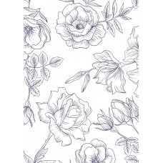 Nini's Things Printed Design You Choose the Medium - A4 Sheet - Rose Drawing