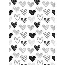 Nini's Things Printed Design You Choose the Medium - A4 Sheet - Scribbled Hearts